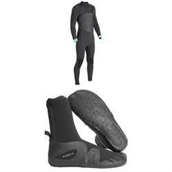 Vissla North Seas 4​/3 Chest Zip Wetsuit ​+ Vissla 7 Seas 5mm Round Toe Booties