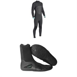 Vissla North Seas 4​/3 Chest Zip Wetsuit ​+ Vissla 7 Seas 3mm Split Toe Booties