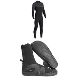 Vissla Seven Seas 4​/3 Back Zip Wetsuit ​+ Vissla 7 Seas 5mm Round Toe Booties