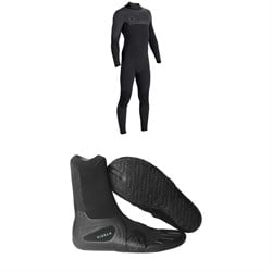 Vissla Seven Seas 4​/3 Back Zip Wetsuit ​+ Vissla 7 Seas 3mm Split Toe Booties