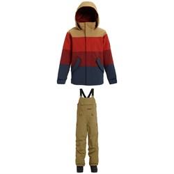 Burton Symbol Jacket - Big Boys' + Burton Skylar Bibs - Kids'