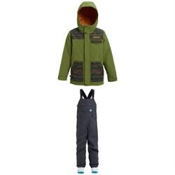 Burton Dugout Jacket - Boys' + Burton Skylar Bibs - Kids'