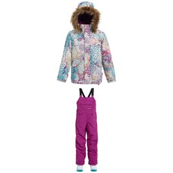 Burton Whiply Bomber Jacket - Big Girls' + Burton Skylar Bibs - Kids'