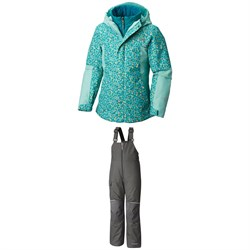 Columbia Whirlibird II Jacket - Girls' ​+ Columbia Adventure Ride Bibs - Kids'