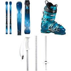 Blizzard Quattro 8.0 Ti Skis + TCX12 Bindings - Women's + K2 Spyre 110 Ski Boots - Women's + evo Double-E Ski Poles