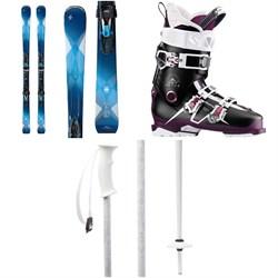 Blizzard Quattro 8.0 Ti Skis + TCX12 Bindings - Women's + Salomon QST Pro 110 W Ski Boots - Women's + evo Double-E Ski Poles