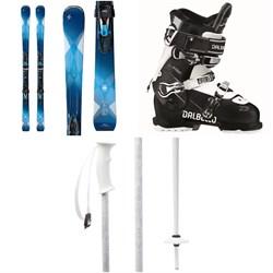 Blizzard Quattro 8.0 Ti Skis + TCX12 Bindings - Women's + Dalbello Kyra 75 Ski Boots - Women's + evo Double-E Ski Poles