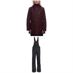 686 Spirit Insulated Jacket + Black Magic Insulated Overalls - Women's