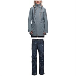 686 Spirit Insulated Jacket ​+ Deconstructed Denim Insulated Pants - Women's