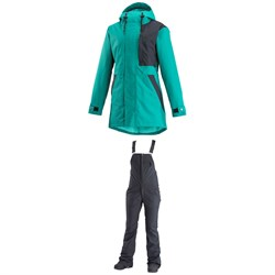 Airblaster Lady Storm Cloak Jacket - Women's + Airblaster Hot Bibs - Women's