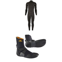 Patagonia R3 Yulex Front Zip Wetsuit ​+ Patagonia R3 Yulex Split Toe Wetsuit Boots