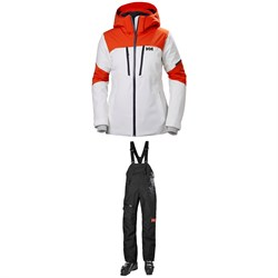 113857ed24 Helly Hansen Motionista Jacket + Powderqueen Bib Pants - Women's