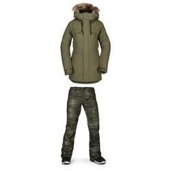 Volcom Shadow Insulated Jacket + Volcom Species Stretch Pants - Women's