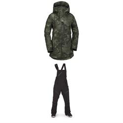 Volcom 3D Stretch GORE-TEX Jacket + Volcom Elm GORE-TEX Bib Overalls - Women's