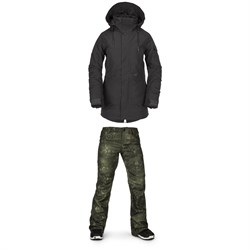 Volcom Shrine Insulated Jacket ​+ Volcom Species Stretch Pants - Women's