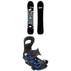 GNU Antigravity x evo Snowboard + Bent Metal Transfer Snowboard Bindings 2019