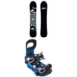 GNU Antigravity x evo Snowboard 2019 + Bent Metal Joint Snowboard Bindings 2019