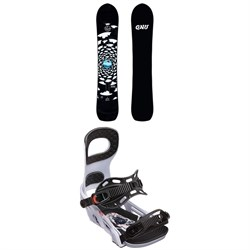 GNU Antigravity x evo Snowboard 2019 ​+ Bent Metal Joint Snowboard Bindings 2019