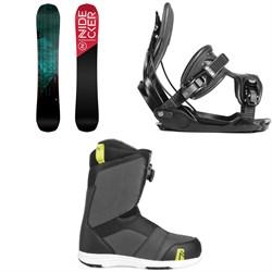 Nidecker Score Snowboard + Flow Alpha Snowboard Bindings + Nidecker Ranger Boa Snowboard Boots 2019