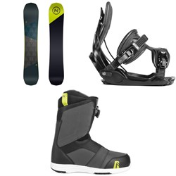 Nidecker Merc Snowboard + Flow Alpha Snowboard Bindings + Nidecker Ranger Boa Snowboard Boots 2019