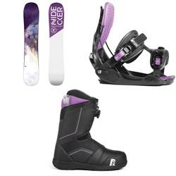 Nidecker Angel Snowboard - Women's + Flow Haylo Snowboard Bindings - Women's + Nidecker Maya Boa Snowboard Boots - Women's 2019