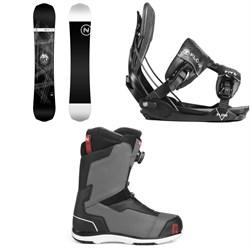 Nidecker Era Snowboard + Flow Five Fusion Snowboard Bindings + Nidecker Aero Boa Coil Snowboard Boots 2019