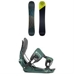 Nidecker Merc Snowboard ​+ Flow Five Fusion Snowboard Bindings