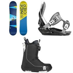 Nidecker Micron Magic Snowboard - Little Kids' + Flow Micron Snowboard Bindings - Little Kids' + Nidecker Micron Boa Snowboard Boots 2019