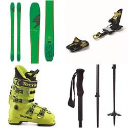 Blizzard Zero G 95 Skis + Marker Kingpin 10 Alpine Touring Ski Bindings + Tecnica Zero G Guide Pro Ski Boots + evo Way Out Adjustable Ski Poles