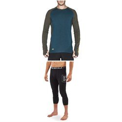 MONS ROYALE Temple Tech Long-Sleeve Shirt ​+ Shaun-Off 3​/4 Leggings