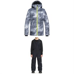 Quiksilver Mission Printed Jacket ​+ Quiksilver Stratus Bibs - Boys'