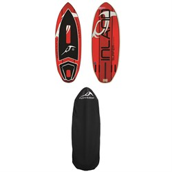 Inland Surfer Red Rocket Wakesurf Board + Inland Surfer Board Sock 2018