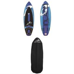 Inland Surfer Blue Lake V2 Wakesurf Board + Inland Surfer Board Sock 2018