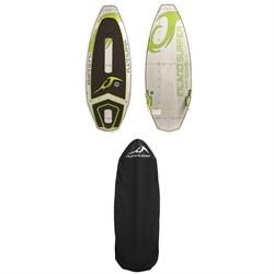 Inland Surfer Chrome Air Series 134 Wakesurf Board 2018 + Inland Surfer Wakesurf Board Sock 2018