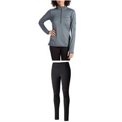 Columbia Titanium Diamond Peak® Half Zip Shirt + Titanium Northern Ground Tights - Women's
