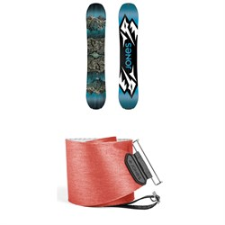 Jones Mountain Twin Splitboard 2019 + Jones Nomad Quick Tension Tail Clip Splitboard Skins