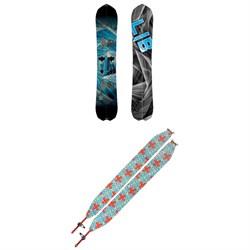 Lib Tech T.Rice Gold Membr Split FP C2X Splitboard 2019 + Spark R&D Splitboard Climbing Skins w/ Tailclips