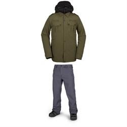Volcom Creedle2stone Jacket + Volcom Freakin Snow Chino Pants