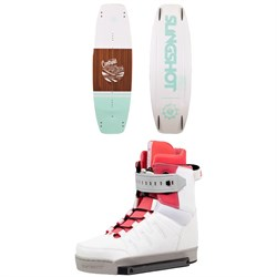 Slingshot Contrast Wakeboard ​+ Jewel Wakeboard Bindings - Women's
