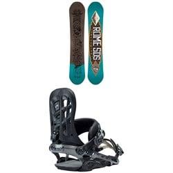Rome Crossrocket Snowboard + Rome 390 Boss Snowboard Bindings