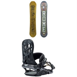 Rome Crossrocket Snowboard ​+ Rome 390 Boss Snowboard Bindings