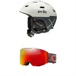 Pret Refuge X Helmet + Oakley Fall Line Goggles
