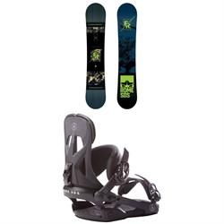 Rome Factory Rocker Snowboard  + Rome Arsenal Snowboard Bindings