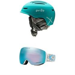 Pret Corona X Helmet - Women's + Oakley Flight Deck XM Goggles