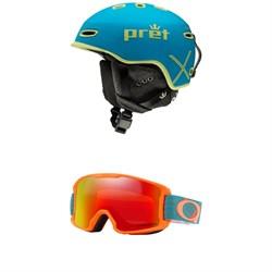 Pret Ripper X Helmet - Kids' + Oakley Line Miner Goggles - Kids'