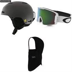 Giro Ledge MIPS Helmet + Oakley Line Miner Goggles + BlackStrap The Team Hood