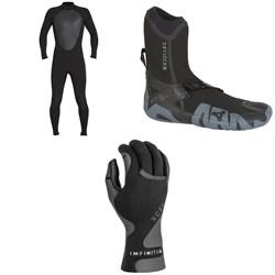 XCEL 5/4 Axis Wetsuit + XCEL 5mm Drylock Split Toe Boots + XCEL 1.5mm Infiniti Thermo Lite 5-Finger Gloves