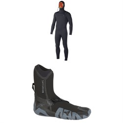 XCEL 5.5​/4.5 Comp X Hooded Wetsuit ​+ XCEL 5mm Drylock Split Toe Boots