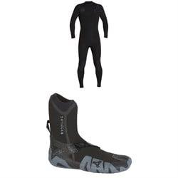 XCEL 4/3 Comp X TDC Wetsuit + XCEL 5mm Drylock Split Toe Boots