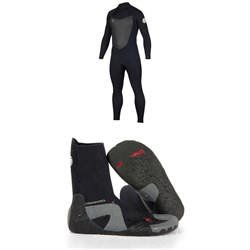 Size 10 New Mens Ripcurl Wetsuit 3mm Dawn Patrol Round Toe Boot Boots, Booties